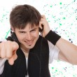 Young man listening music. — Stock Photo #35959811
