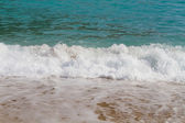 Soft wave of the sea on the beach — Stock Photo