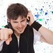 Young man listening music. — Stock Photo #36294483