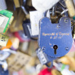 Stock Photo: Thousands of locks of loving couples symbolize love forever.
