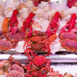 Fresh seafood in fish market — Stock Photo