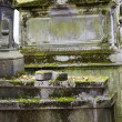 Old nameless tombstone in cemetery — Stock Photo #36962373