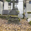 Foto de Stock  : Old nameless tombstone in cemetery
