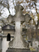 Old nameless tombstone in cemetery — Foto Stock