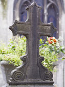 Old nameless tombstone in cemetery — Stock fotografie