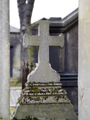 Old nameless tombstone in cemetery — Foto de Stock