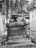 Old nameless tombstone in cemetery — 图库照片