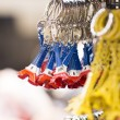 Stock Photo: Souvenir key chain of mini eiffel tower from paris