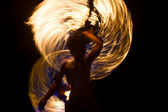 Fire Show at night on Phi Phi Island, Thailand — Stock Photo