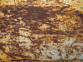 Old rusty metal plate heavily aged — Stockfoto
