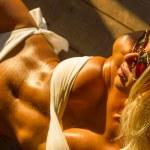 Woman in bikini at tropical resort — Stock Photo #37737759
