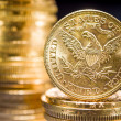 Stock Photo: Five Dollars gold coins