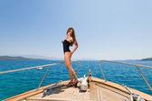 Young woman Sailing — Stock Photo