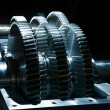 Stock Photo: Ball bearings and pinion