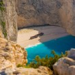Amazing beach Navagio in Zakynthos — Stock Photo #38005877