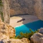 Amazing beach Navagio in Zakynthos — Stock Photo
