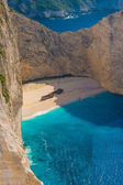 Amazing beach Navagio in Zakynthos — Stock Photo