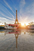 View on the Eiffel tower from the Trocadero — Stock Photo