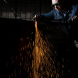 Stock Photo: Welder working at factory