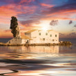 Sunset scene of Vlachernmonastery, Kanoni, Corfu — Stock Photo #39996095