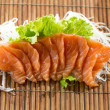 Stock Photo: Sliced raw salmon sashimi