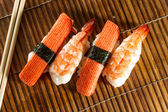 Yummy Fresh Sushi rolls — Stockfoto