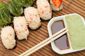 Yummy Fresh Sushi rolls — Foto Stock