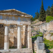 Stock Photo: Treasure of Athenians at Delphi oracle archaeological site