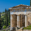 Stock Photo: Treasure of the Athenians at Delphi oracle archaeological site