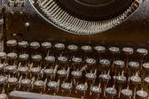 Gros plan photo des clés de l'antique machine à écrire — Photo