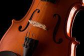 Silhouette of a violin — Stock Photo