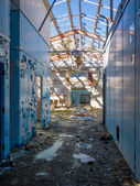 Abandoned base Military barracks — Stock Photo