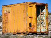Old and rusty container — Stock Photo