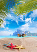 Starfish on the beach in Thailand — Stock Photo