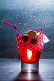 Strawberry cocktail in a glass  — Foto de Stock