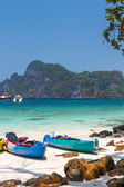 Monkey bay koh wont island — Stockfoto