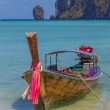 Boat in Phi Phi island Thailand — Stock Photo