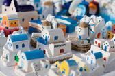 Casas modelo pequeño de santorini — Foto de Stock