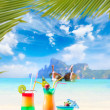 Cocktail and Long tailed boat in Thailand — Stock Photo #42418605