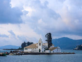 Scene of Vlacherna monastery, Kanoni, Corfu — Stock Photo