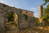 Ruins of a Greek orthodox monastery on  Corfu — Stock Photo