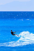 Kite boarder on the Ionian island of Lefkas  — Stock Photo