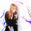 Young female singer — Stock Photo #44866021