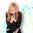 Young female singer — Stock Photo #44866071