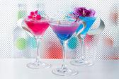 Molecular mixology - Cocktail with caviar — Stock Photo