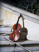 Old violin on autumn barok 3 — Stock Photo