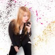 Young female singer  — Stock Photo #45420361