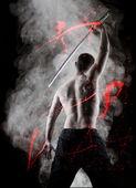 Warrior with his Katana — Stock Photo
