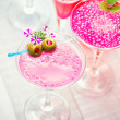 Cocktail with caviar and flower — Stock Photo #45984129