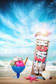 Gourmet tropical icecream dessert  — Stock Photo